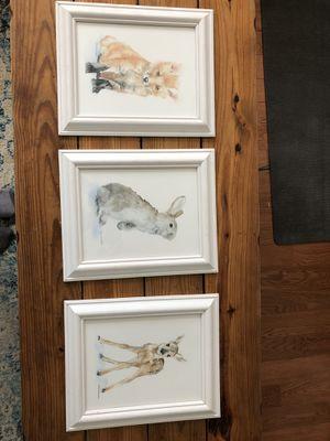 Nursery decor/wall art, baby woodland animals for Sale in Millersville, MD