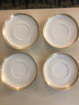 Haviland france limoges double gold dessert plates for Sale in Traverse City, MI