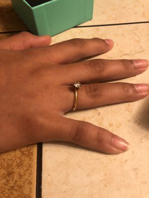 size 5, 1 single diamond 14 carrot gold ring for Sale in Belmont, NC