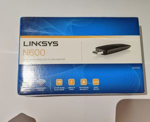 Linksys N600 Dual Band Wireless-N USB Adapter for Sale in Arlington, TX