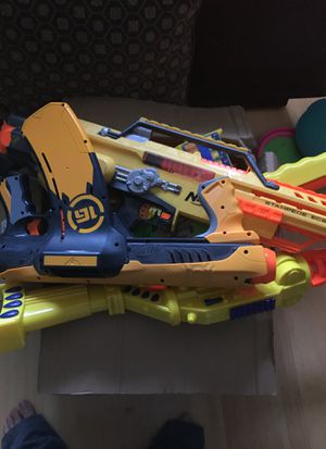 Box of nerf guns for Sale in Princeton, NJ