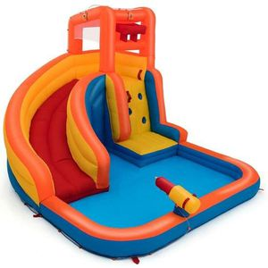 Inflatable Water Bouncer House With Climbing Wall With blower for Sale in El Monte, CA