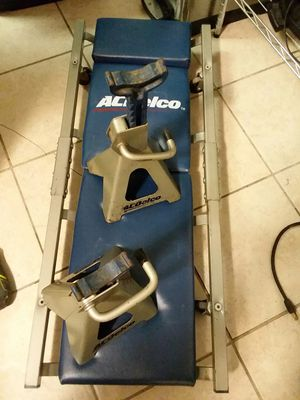 Acdelco Jack stands & creeper for Sale in Broadway, VA