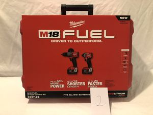 Brand new never used Milwaukee M18 fuel brushless 2 tool combo kit. for Sale in Vacaville, CA