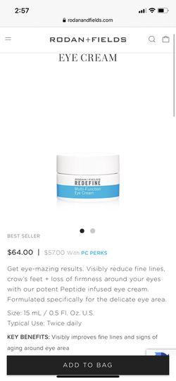 Rodan and fields multi-function eye cream NEVER USED for Sale in Garden Grove,  CA