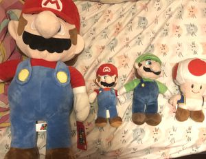 Mario + Miscellaneous Plushie Bundle for Sale in Oceanside, CA