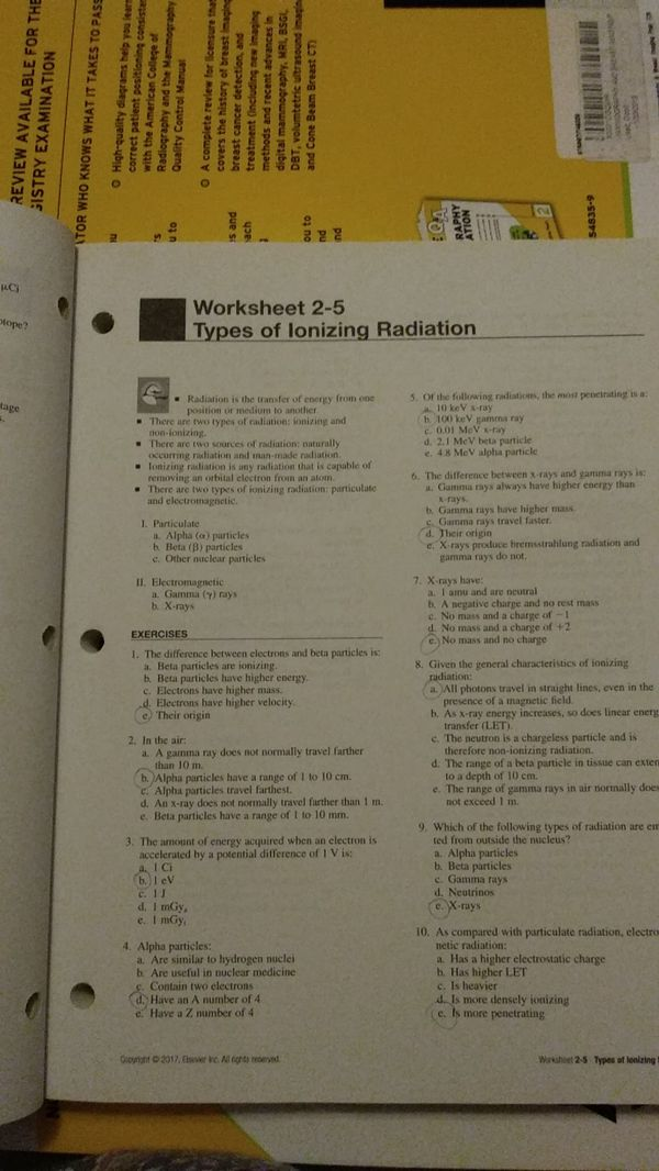 Radiologic Science for Technologists workbook, 11th ed