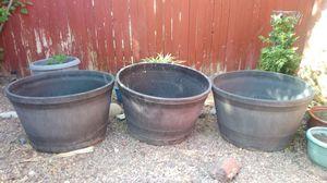 Outdoor planters/ flower/ plant pots for Sale in Phoenix, AZ