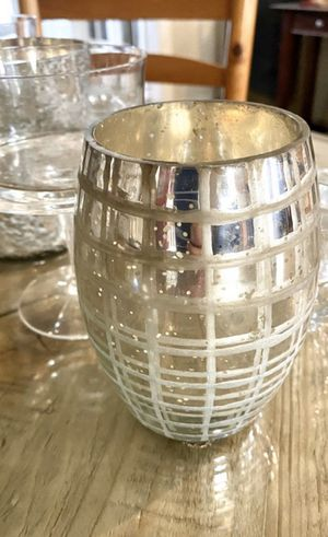 "2 silver mercury glass candle holders. 5"" and 5.5"" tall. Wedding decor for Sale in Puyallup, WA"
