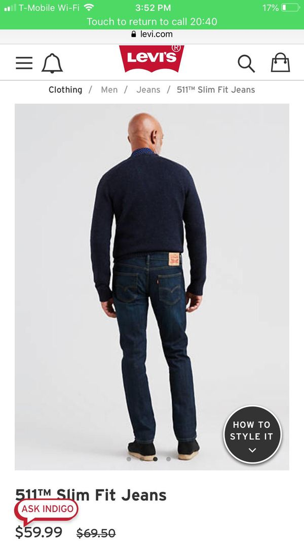 Levis man Slim Stretch Jeans from 30x30-36x32 ! Read description up for trade