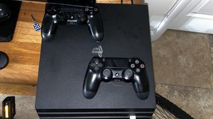 PS4 PRO 1TB with 3 controllers slightly used for Sale in SUNNY ISL BCH, FL