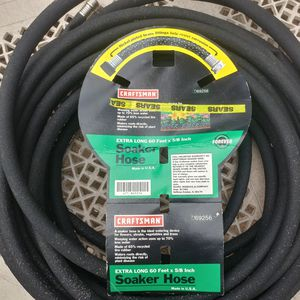"""Garden water soaker hose 5/8"""" x 60 feet, by Craftsman. Ideal sprinkler tool watering hose for lawn irrigation for Sale in Middletown, NJ"""