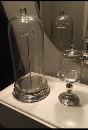 Pottery Barn Glass Cloche Glass Cases - Two for Sale in Washington, DC