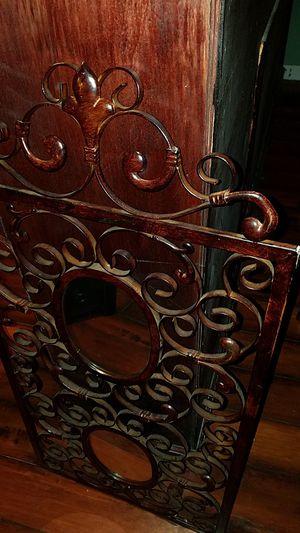 Antique looking mirror set in iron for Sale in Willingboro, NJ