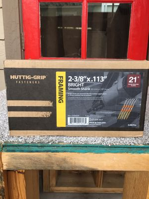 """Excellent """" Huttig- Grip"""" Farming size 2 -3/8"""" X.113"""" Smooth Shank New never used 5000 Pcs. for Sale in Mesa, AZ"""
