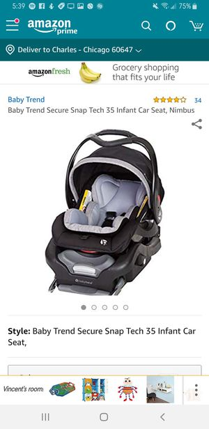 Baby trend car seat infant for Sale in Chicago, IL