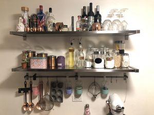 Kitchen wall shelving and rod for Sale in Queens, NY