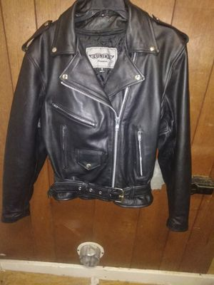 Unik leather motorcycle jacket size 8 for Sale in Cameron, MO