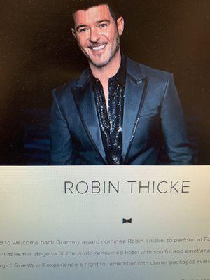 Robin thicke at Foubtainbleu Miami Beach tickets for Sale in Miami, FL