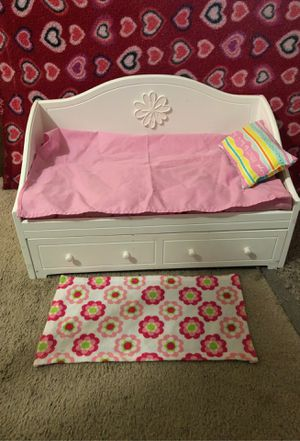 "America Doll Bed 🛏 (set of 2 beds) American Girl Trundle Bed & Bedding Set for 18"" Dolls for Sale in Alexandria, VA"