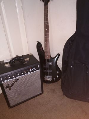 Bass Guitar and guitar bag and amp for Sale in Philadelphia, PA