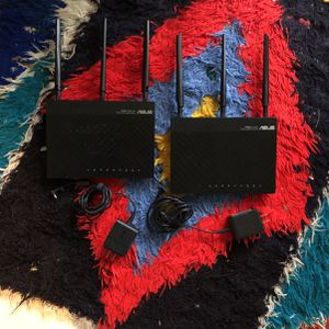 Lot Of 2 ASUS RT-N66U DARK KNIGHT DUAL N-BAND 450MBPS WIRELESS N900 GIGABIT ROUTERS for Sale in Chicago, IL