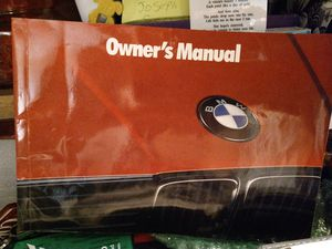 Bmw 325 I owners manual. 1992-1993. Includes booklets and cassette tape. for Sale in Oakton, VA