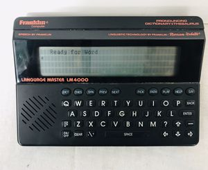 Franklin Computer Language Master LM4000 for Sale in Pawtucket, RI