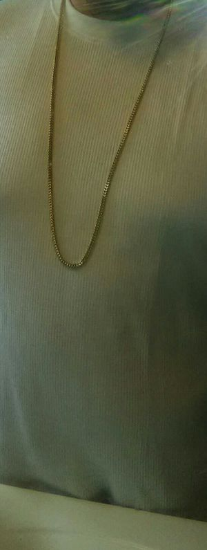 40 inch 10 karat gold 6mm Franco chain gold and diamond earrings all real for Sale in Milwaukee, WI