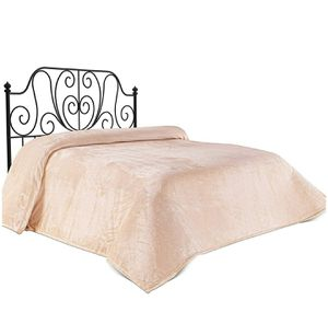 Chiara Rose Super Soft Bed Blanket Twin Size, Flannel Fleece Cozy Plush Fuzzy Lightweight Solid Double Bed Throw Beige for Sale in Rancho Cucamonga, CA