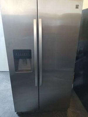 Kenmore stainless steel side by side refrigerator 36wide 69tall for Sale in Long Beach, CA