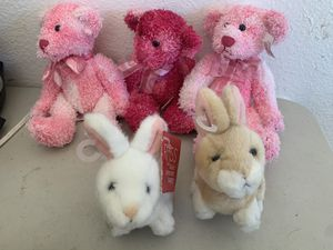 5 RUSS Stuffed Animals Bunnies and Teddy Bears for Sale in Beaverton, OR