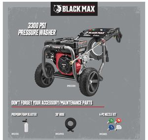 BLACK MAX 3300 psi PRESSURE WASHER — USED 1 TIME for Sale in Temecula, CA