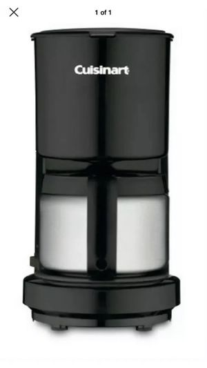 Cuisinart DCC-450BK 4 Cup coffee maker with stainless steel carafe, black for Sale in Tinton Falls, NJ