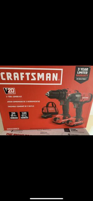 (Price Negotiable) CRAFTSMAN V20 2-Tool 20-Volt Max Power Tool Combo Kit with Soft Case (Charger Included and 2-Batteries Included) for Sale in Columbus, OH