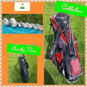 7 Golf Clubs + 2 golf bags for Sale in Worcester, MA