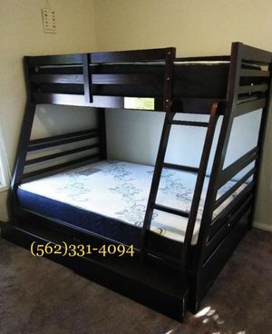 💥On sale new Expresso all wood bunkbed with drawers and mattresses included💥 for Sale in Clovis, CA