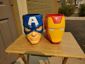 Captain America and Iron Man Trick or Treating Buckets for Sale in Westminster, CO
