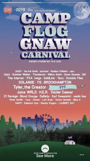 CAMP FLOG GNAW GA TICKET for Sale in Rialto, CA