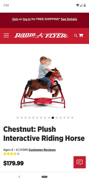 Radio flyer toy horse for Sale in Galt, CA