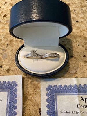 Platinum Engagement Ring and Wedding Band for Sale in Irwindale, CA