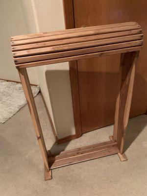 Cedar Saddle Storage Stand for Sale in Gresham, OR