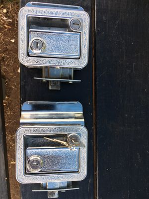 Two camper door locks one with a key for Sale in Graham, WA