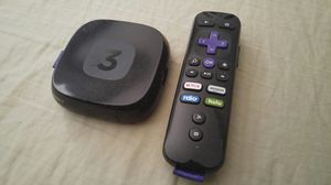 Like new roku 3 with remote for Sale in Fairfax, VA