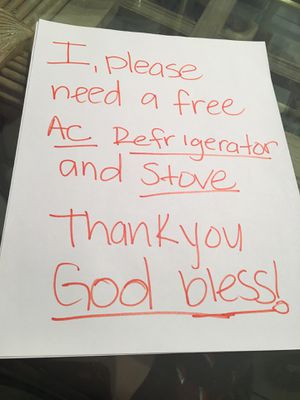 I need a Free AC , Refrigerator and Stove for Sale in Los Angeles, CA