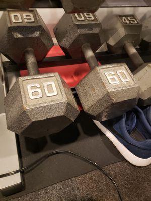 60lb set of dumbbells / free weights for Sale in Royal Oak, MI