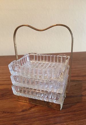 Vintage glass stacking ashtrays with holder for Sale in Des Moines, WA