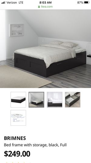 Ikea full size bed with 4 big drawers for Sale in Chicago, IL