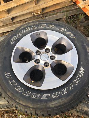 Bridgestone Dueler A/T jeep tires/wheels for Sale in Hilliard, OH