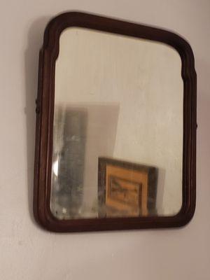 Antique vintage wood beveled mirror for Sale in Orlando, FL